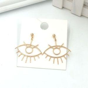 Minimalist Artists Art Eye Drop Earrings